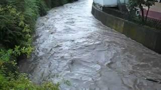 preview picture of video 'Wannweil: Hochwasser der Echaz am 07.07.2011'