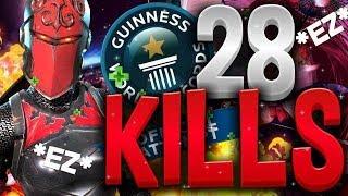 FORTNITE A QUELQUES KILLS DU WORLD RECORD !! SOLO 28 KILLS !!