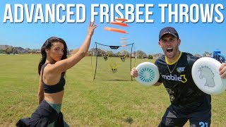 ADVANCED FRISBEE THROWS | Brodie & Kelsey