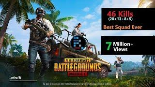"[Hindi] PUBG Mobile | ""46 Kills"" Best Squad Ever"