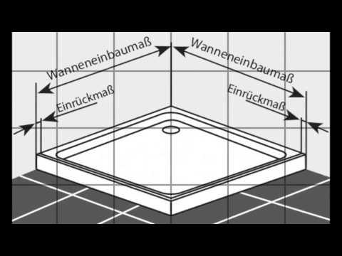 Duschkabine - Duschwanne - messen