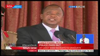 President Uhuru attends Police pass out in Kiganjo Police Training College