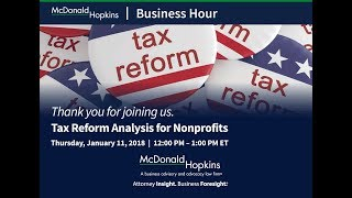 Tax Reform Analysis for Nonprofits
