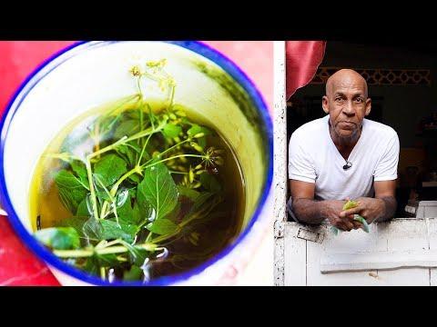 , title : 'Bush Tea by Uncle Clyde in Paramin, Trinidad & Tobago   In De Kitchen
