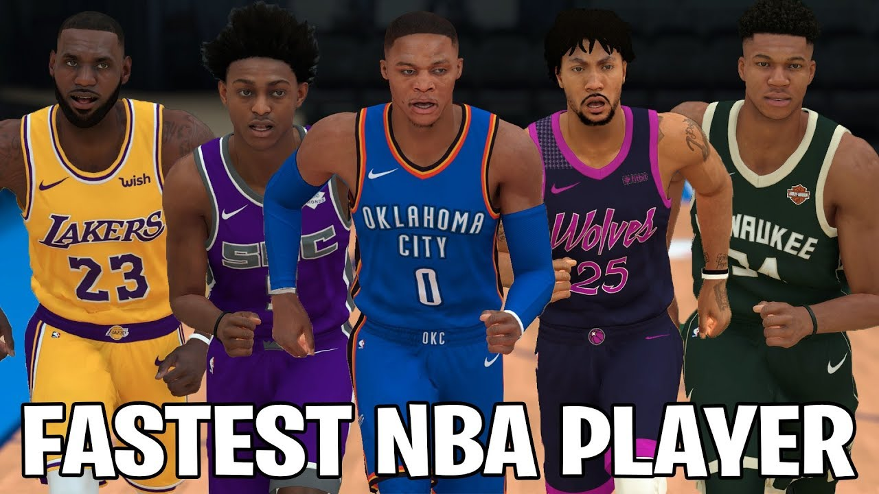 Who Is The Fastest Player In The NBA?   NBA 2K19 Speed Test