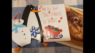 Craft With Me - Repurpose / Recycle Christmas Cards, Setting Eyelets, Creating Journal Cards & Tags