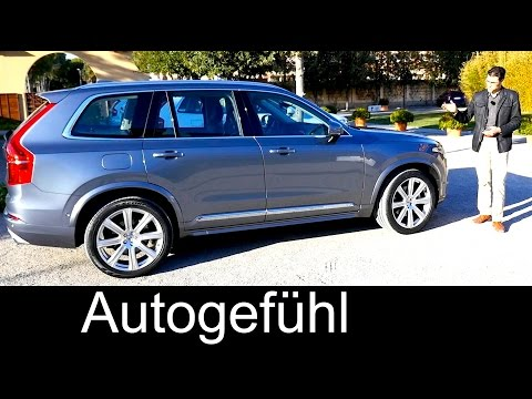 New Volvo XC90 T6 Inscription petrol turbo 320 hp REVIEW test drive + 360 Surround Camera