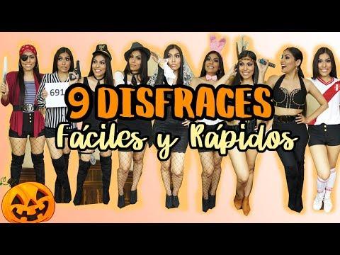 DISFRACES FÁCILES Y RÁPIDOS con ropa negra l Daniella Acosta