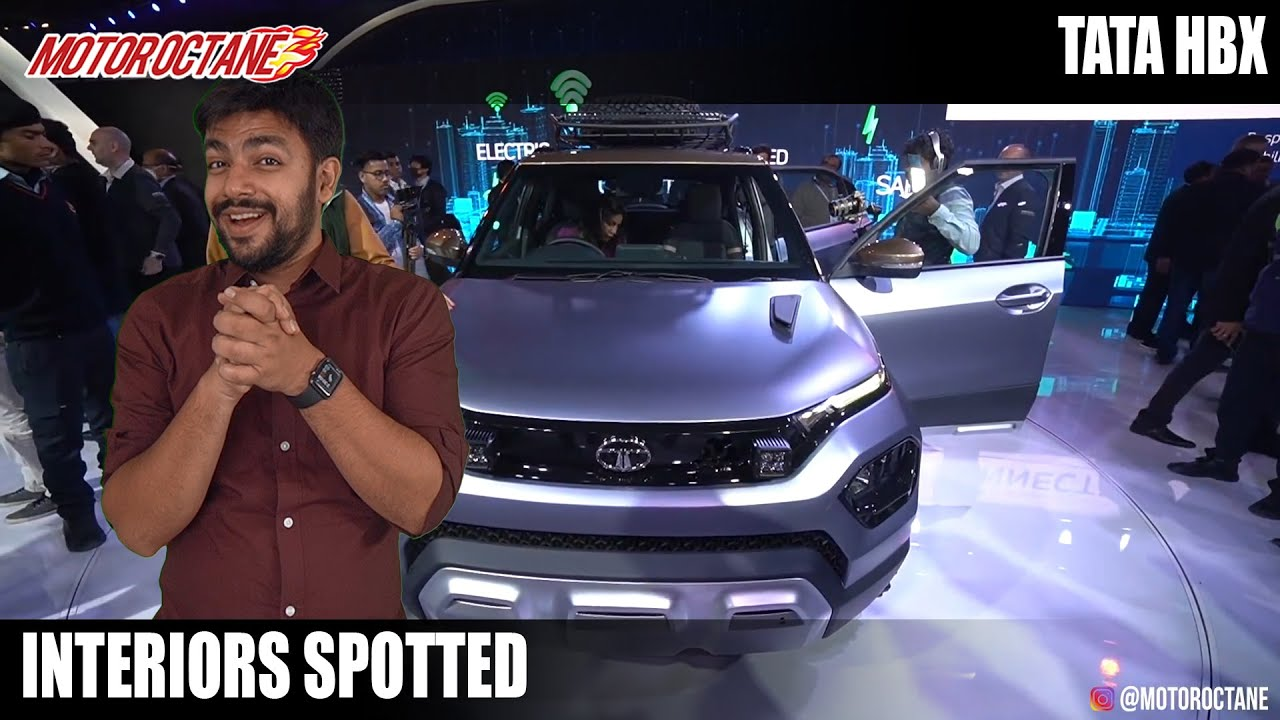 Motoroctane Youtube Video - Tata HBX ke Interiors SPOTTED! EXCLUSIVE