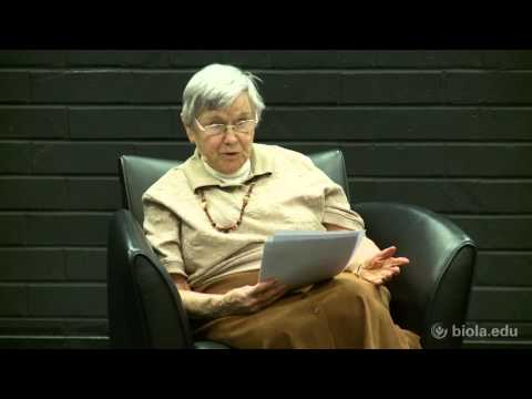 Eva Brann: Why Read? [Torrey Honors Distinguished Lecture Series]