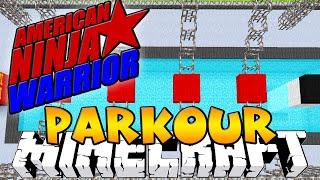 """Minecraft AMERICAN NINJA WARRIOR PARKOUR! """"TIMED RACE"""" w/KenWorth & PrestonPlayz"""