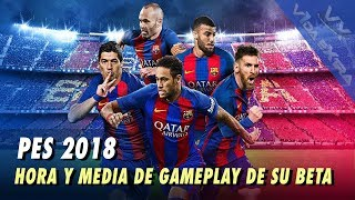 PES 2018 - 90 minutos de gameplay de su beta online