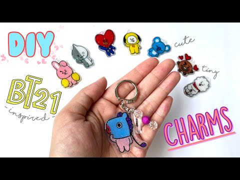 DIY BT21 Plastic Charms!