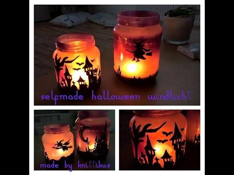 Windlicht für Halloween | selber basteln || D.I.Y. ||