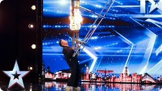 Kieran Beattie brings the danger to BGT | Auditions Week 2 | Britain's Got Talent 2017