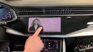 Audi Q8, A8, A7, A6 2018+ - доп мультимедийные системы на штатные мониторы