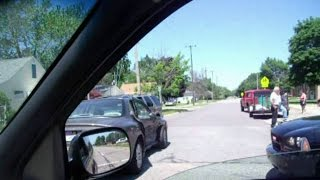 preview picture of video 'McKinley Car Crash Flint Michigan 810'
