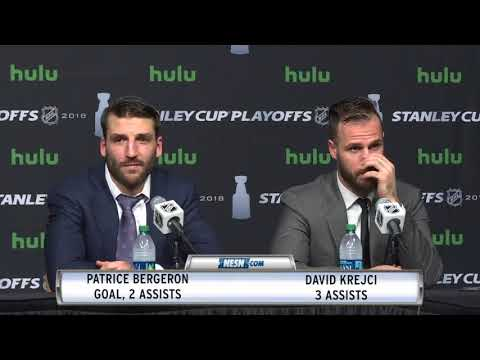 Patrice Bergeron and David Krejci Game 7 Postgame Press Conference