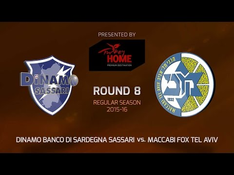 Highlights: RS Round 8, Dinamo Sassari vs. Maccabi FOX Tel Aviv