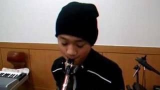 Amazing Grace - HEO MIN ,11years old. saxophone.허민. 색소폰, 11살. 나같은 죄인 살리신.