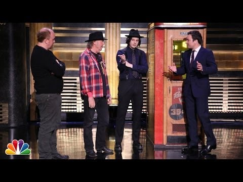 Watch Jimmy Fallon, Neil Young And Jack White Press A Record On Stage