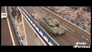 Fast & Furious 6 (2013)   Dom Saves Letty From Tank Attack Scene Hd
