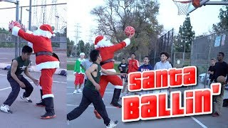 Basketball Santa Claus