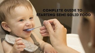 How to Start Solid food for Babies | How to start Semisolid food for Baby