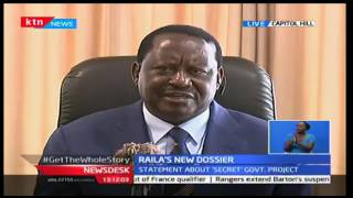 KTN News Desk: CORD leader Odinga commands Jubilee government not to force the project, 10/10/16