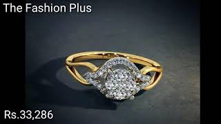 Diamond Gold Rings Designs With PRICE BY BLUE STONE