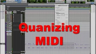 How to Quantize a MIDI performance - Tutorial