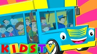 The Wheels On The Bus Go Round And Round | Nursery Rhymes And Children's Songs | Song For Toddlers