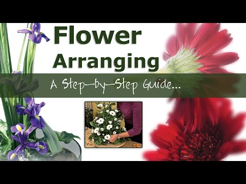 Flower Arranging   A Step by Step Guide - YouTube