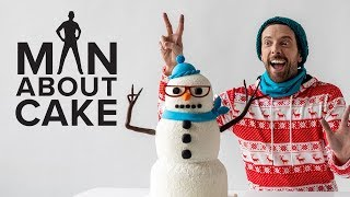 Hipster Snowman Cake ⛄️✌️ Man About Cake with Joshua John Russell