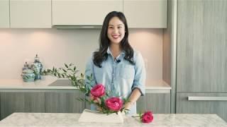 How To Create An Ikebana Arrangement Using Peonies