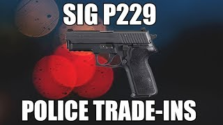 "Sig Sauer U229357 P229 357 SIG Caliber Certified Pre Owned Law Enforcement Trade In... 3.9"" BBL, W / Night Sights - Nitron Finish"