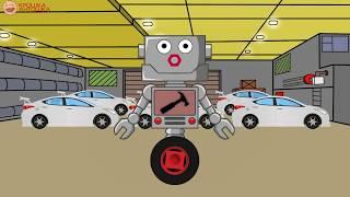 Приключения Автомеханика Роби: Пикап, Машина Полиции и Гоночные Автомобили