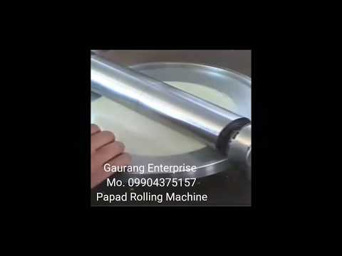 Papad Rolling Machine