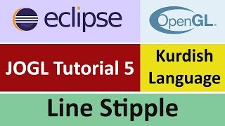 JOGL Tutorial 5 - Line Stipple in eclipse - Kurdish Language