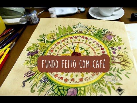 Técnica de Pintura com Café em Floresta Encantada