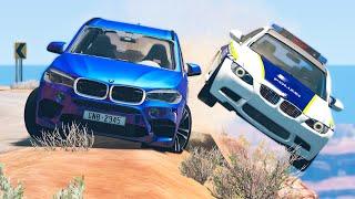 Cliff Drops Car Crashes #17 - BeamNG Drive   CRASHdriven