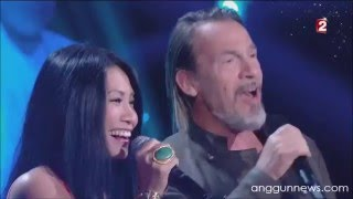 Anggun and Florent Pagny singing Nos Vies Paralleles @ C'est votre vie (France 2)