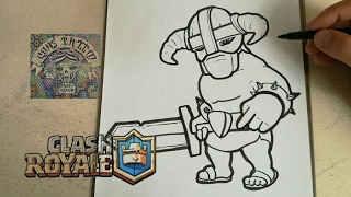 how to draw wizard clash royale step 1
