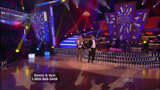 Donny Osmond and Kym Johnson Dancing with the Stars final