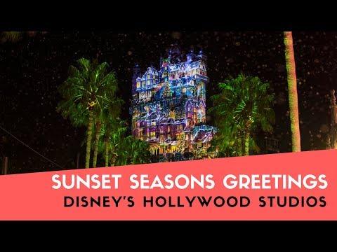 Sunset Seasons Greetings - Disney's Hollywood Studios