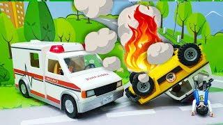Видео для детей с игрушками Плеймобил - Доктор! Самые новые мультики про игрушки и #машинки 2018