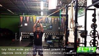 Side Pallof Over Head Press (Core Exercise)