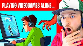 I was playing Videogames ALONE then THIS happened... (True Story Animation)