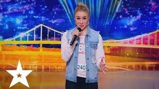 Ukrainian girl raps the part of Eminem