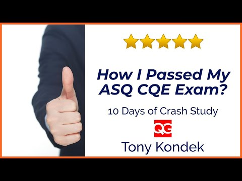How I Passed My ASQ CQE Exam in the First Attempt ... - YouTube